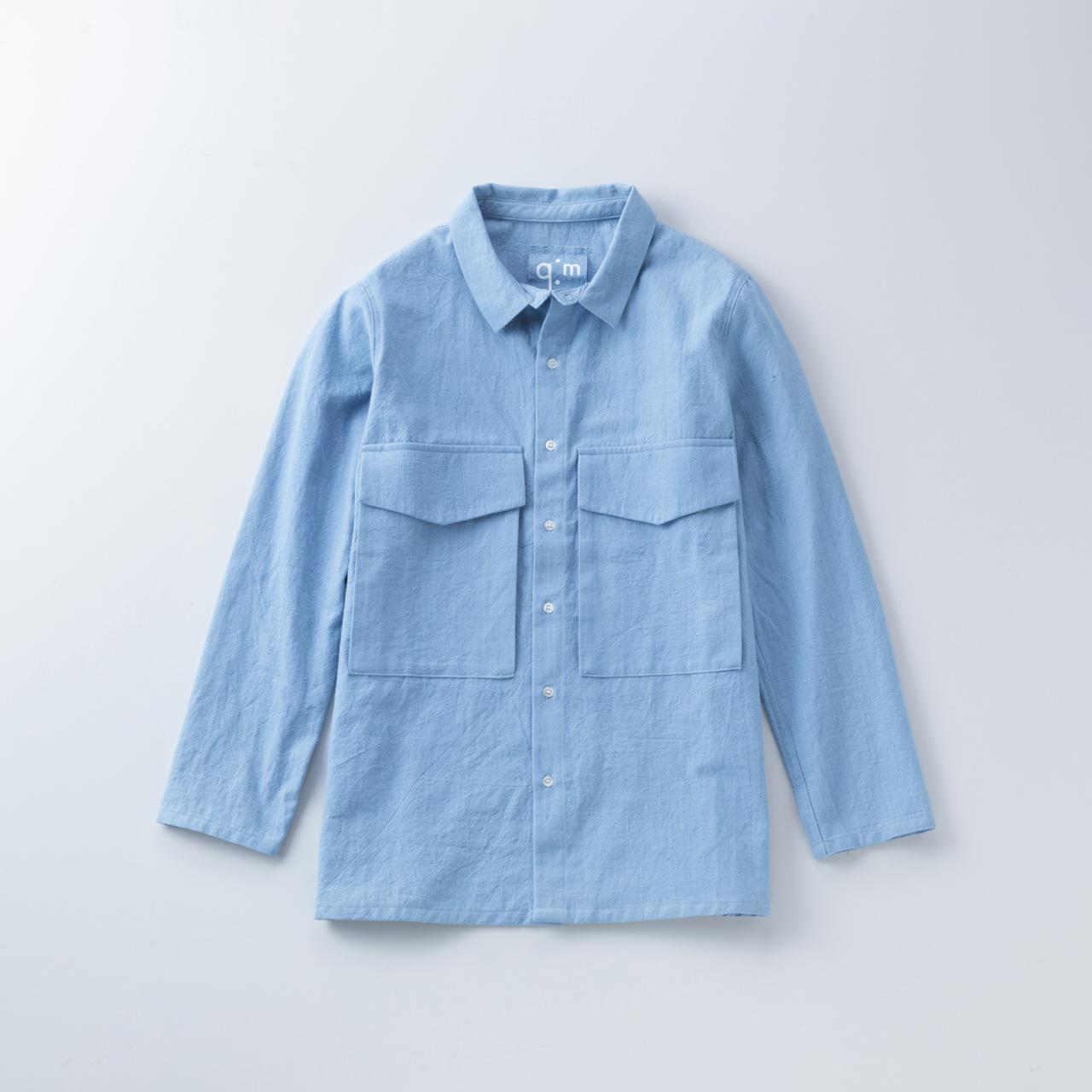 節織薄紺トップス1