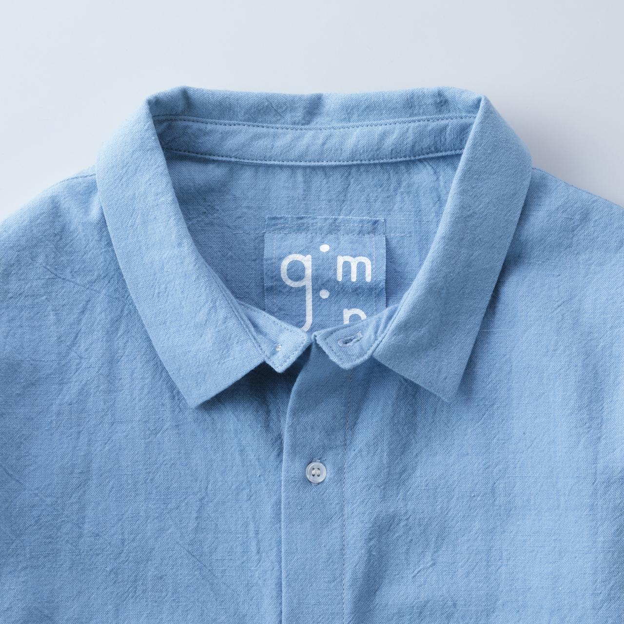 節織薄紺トップス3
